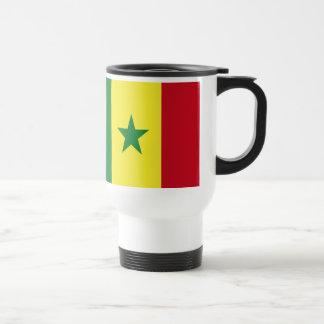 Senegal flag travel mug