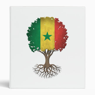 Senegal Flag Tree of Life Customizable Vinyl Binder