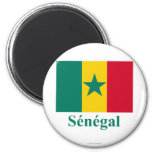 Senegal Flag with Name in French Refrigerator Magnets