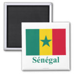 Senegal Flag with Name in French Magnets