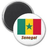 Senegal Flag with Name Refrigerator Magnets