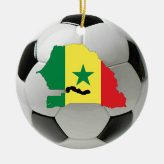 Senegal football soccer ornament
