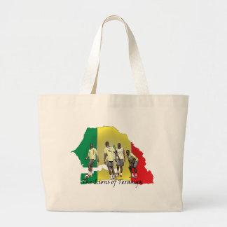Senegal Futbol Tote Bags