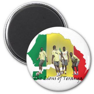 Senegal Futbol Refrigerator Magnets