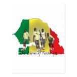 Senegal Futbol Tarjeta Postal