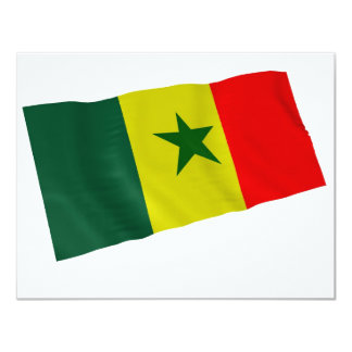 """Senegal Invitación 4.25"""" X 5.5"""""""