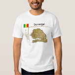 Senegal Map + Flag + Title T-Shirt
