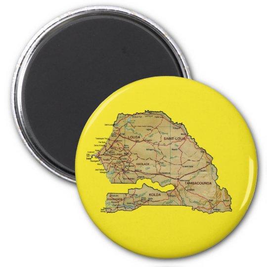 Senegal Map Magnet