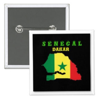 SENEGAL MAP T-SHIRT AND ETC 2 INCH SQUARE BUTTON