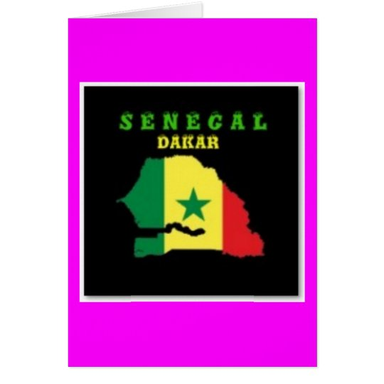 SENEGAL MAP T-SHIRT AND ETC CARD