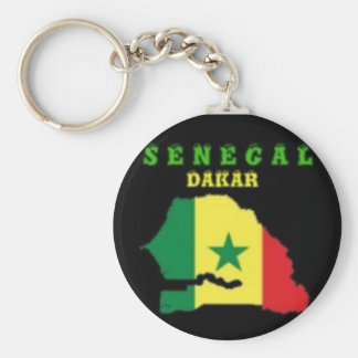 SENEGAL MAP T-SHIRT AND ETC BASIC ROUND BUTTON KEYCHAIN