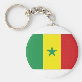 Senegal National Flag Basic Round Button Keychain