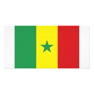 Senegal National Flag Custom Photo Card