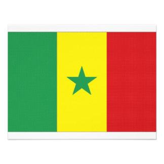 Senegal National Flag Personalized Announcement