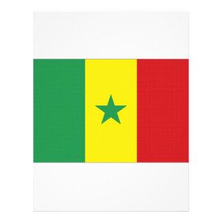 Senegal National Flag Personalized Letterhead