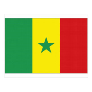 Senegal National Flag Postcard