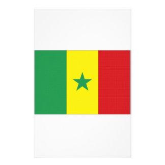 Senegal National Flag Personalized Stationery