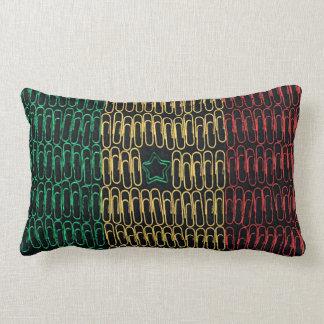 Senegal of Paperclips Lumbar Pillow