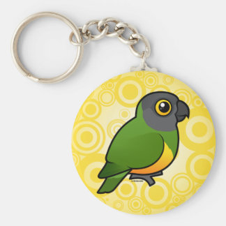 Senegal Parrot Basic Round Button Keychain
