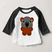 Senegal Parrot in bear costume / cosplay Halloween Baby T-Shirt