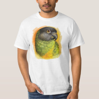 Senegal parrot realistic painting t shirt