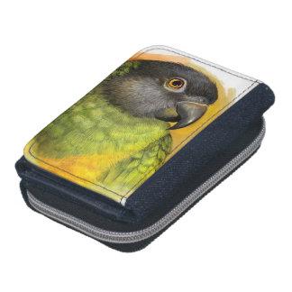 Senegal parrot realistic painting wallet