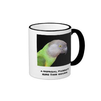 Senegal Parrot Runs This House Coffee Mugs