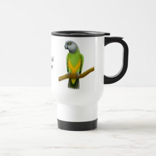 Senegal Poicephalus Parrot Travel Mug