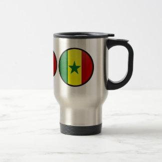 Senegal quality Flag Circle Mugs