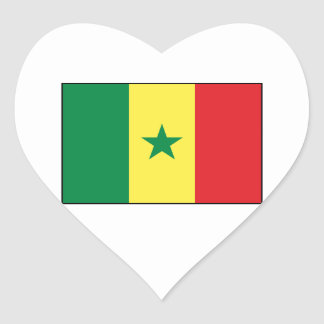 Senegal – Senegalese Flag Heart Sticker