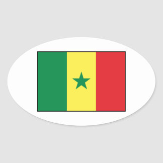 Senegal – Senegalese Flag Oval Sticker
