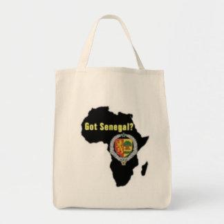SENEGAL / SENEGALESE FLAG  T-SHIRT AND ETC GROCERY TOTE BAG