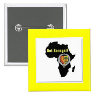 SENEGAL / SENEGALESE FLAG  T-SHIRT AND ETC 2 INCH SQUARE BUTTON