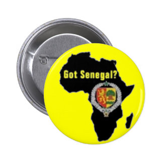 SENEGAL / SENEGALESE FLAG  T-SHIRT AND ETC 2 INCH ROUND BUTTON