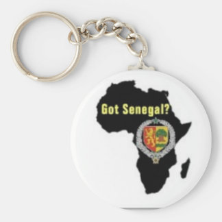 SENEGAL / SENEGALESE FLAG  T-SHIRT AND ETC BASIC ROUND BUTTON KEYCHAIN