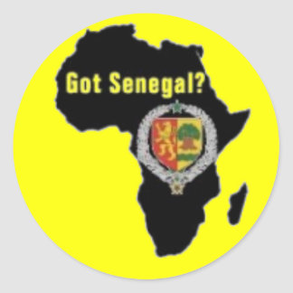 SENEGAL / SENEGALESE FLAG  T-SHIRT AND ETC ROUND STICKERS