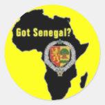 SENEGAL / SENEGALESE FLAG  T-SHIRT AND ETC CLASSIC ROUND STICKER