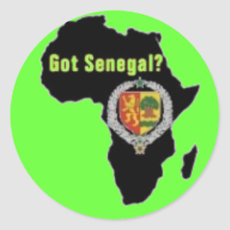 SENEGAL / SENEGALESE FLAG  T-SHIRT AND ETC ROUND STICKER