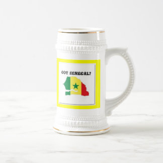 SENEGAL/SENEGALESE MAP T-SHIRT AND ETC BEER STEIN