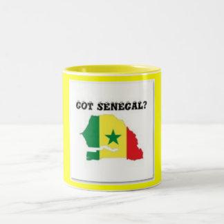 SENEGAL/SENEGALESE MAP T-SHIRT AND ETC Two-Tone COFFEE MUG
