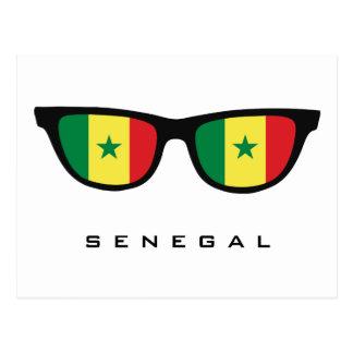 Senegal Shades custom text & color postcard