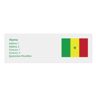Senegal - Skinny Business Card