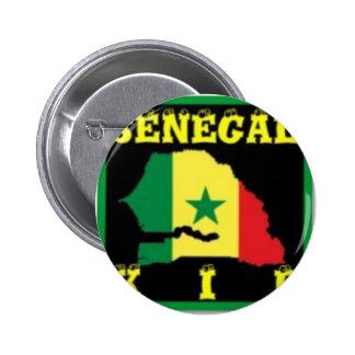 Senegal T-Shirt (urban Wear) 2 Inch Round Button