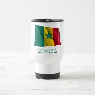 Senegal Waving Flag with Name Coffee Mug