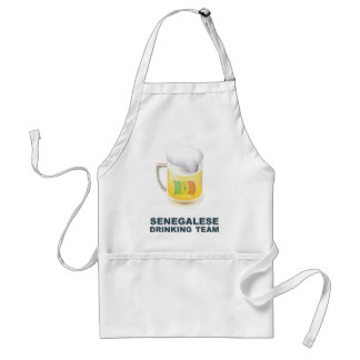 Senegalese Drinking Team Adult Apron