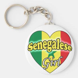 Senegalese Girl Basic Round Button Keychain