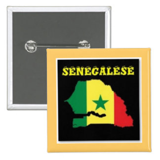 SENEGALESE  MAP T-SHIRT AND ETC 2 INCH SQUARE BUTTON