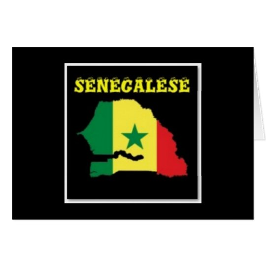 SENEGALESE  MAP T-SHIRT AND ETC CARD