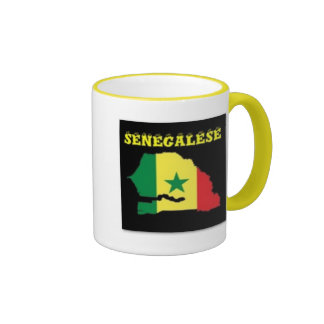 SENEGALESE  MAP T-SHIRT AND ETC COFFEE MUG