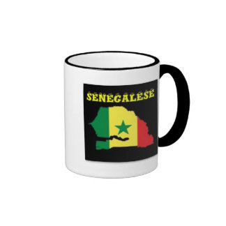 SENEGALESE  MAP T-SHIRT AND ETC COFFEE MUGS